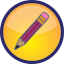 Write icon of a pencil.
